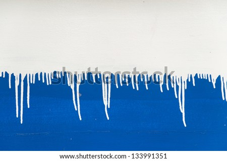 Texture of painted in white and blue colors wall - stock photo