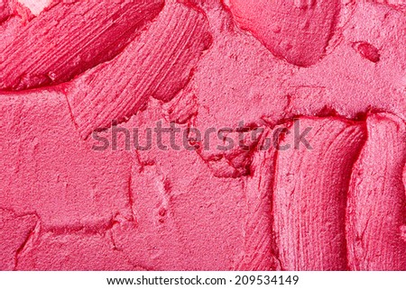 Texture of pink lipstick - stock photo