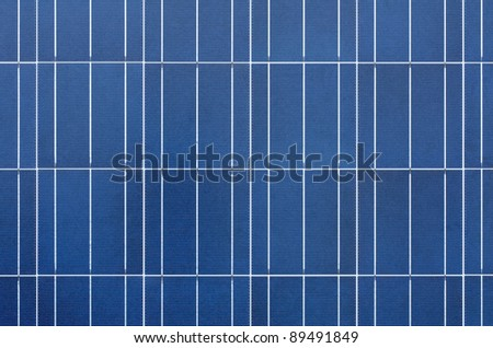 Texture of polycrystalline solar cells - stock photo