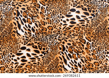 texture of print fabric striped leopard for background - stock photo
