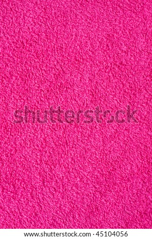 Texture of purple bath towel. Colorful and vivid - stock photo