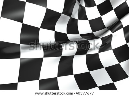 Texture of racing checkered flag - 3d render