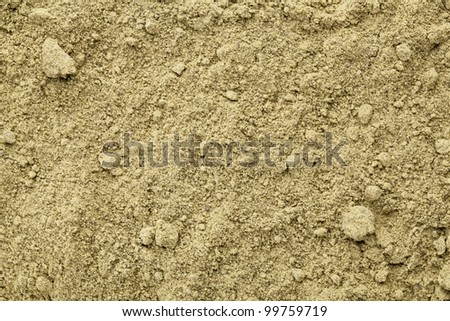 Texture of raw organic hemp protein powder - super food rich in nutrients (proteins, antioxidants, amino and fatty acids) - stock photo