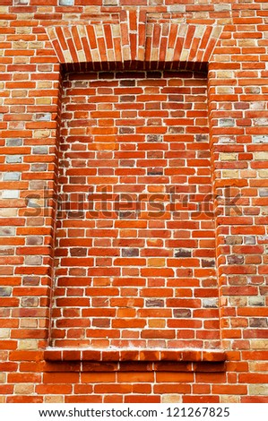 Texture of red brick wall grunge background