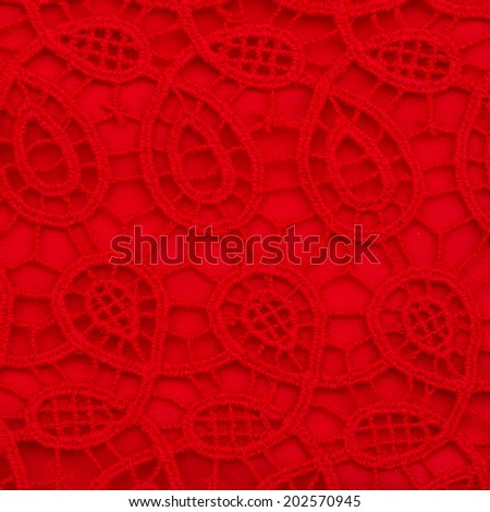 texture of  red laces background close up