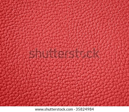 texture of red leather - stock photo