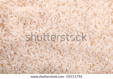 Texture of rice grains. Image of raw food - stock photo