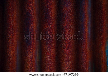 texture of rust on zinc fence - stock photo