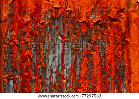 Texture of rusty metal plate - stock photo