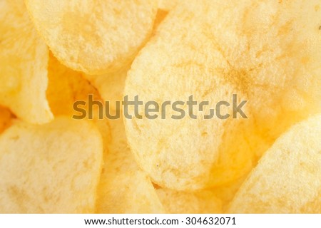 Texture of Salted Potato Chips for Wallpaper, Background - stock photo