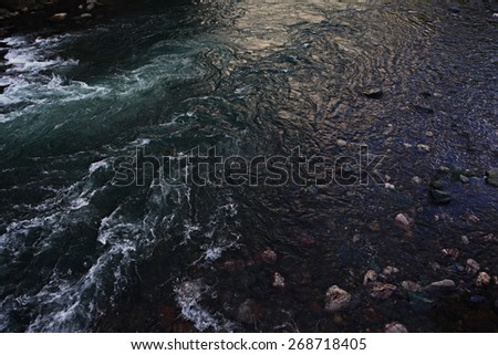 texture of sea waves rocks surf - stock photo