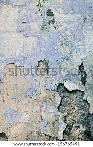 texture of shabby paint and plaster cracks