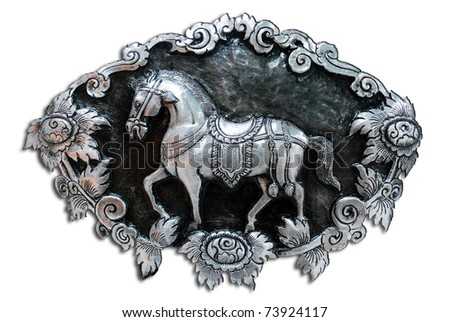 texture of silver metal Snake ,  Muean Sarn Temple  Chiang Mai Thailand - stock photo