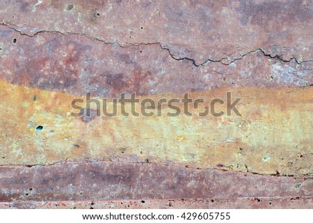 Texture of soil wall for background,color of nature.