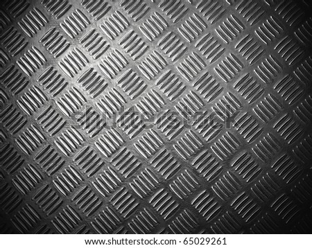 texture of stainless steel floor plate - stock photo