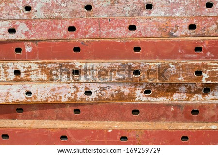 Texture of Steel for casting concrete blocks.