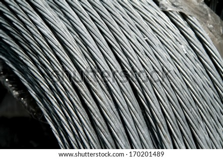 Texture of steel wire in a coil
