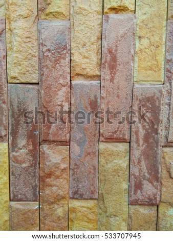 texture of stone brown bricks in vintage and classic style with copy space