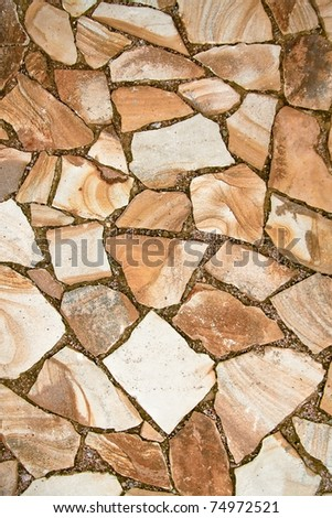 Texture of stone floor - stock photo