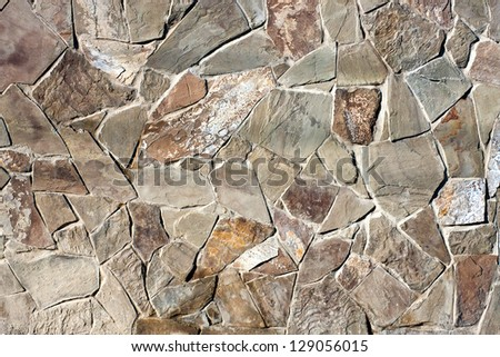 texture of stone wall for background - stock photo