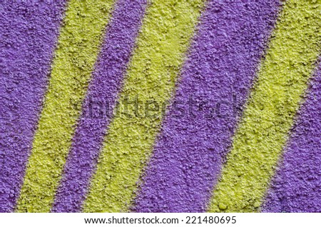 texture of striped plaster wall background - stock photo