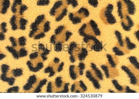 Texture of stripes leopard fabric for background