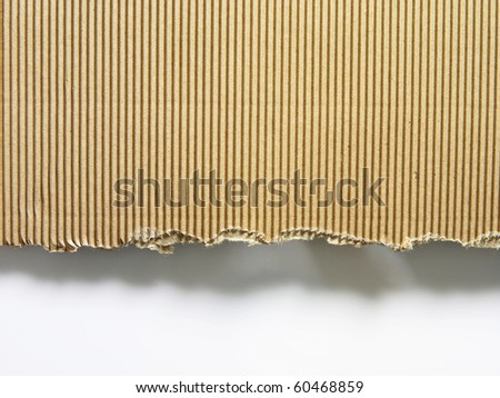 texture of the cardboard on the plain background - stock photo