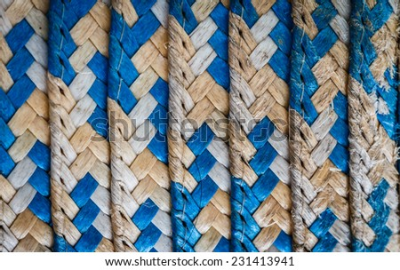 texture of the farmer hat - stock photo