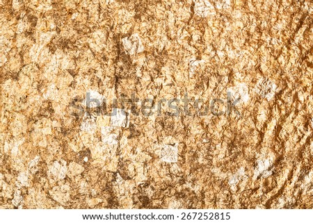 Texture of the gold leaf - stock photo