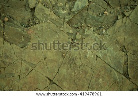 texture of the old flat rock with cracks