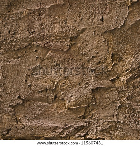 Texture of the old plaster wall - stock photo