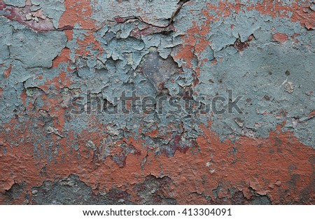 texture of the old shabby painted wall - stock photo