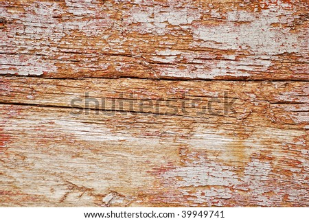 texture of the old spoiled wood damaged by woodworm - stock photo