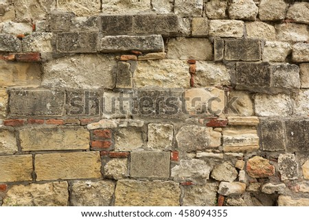 texture of the old stone wall - stock photo
