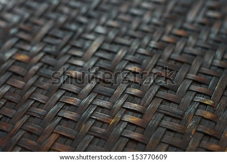 Texture of threshing basket from bamboo  - stock photo