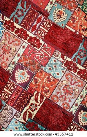 Texture of Turkish Carpet - stock photo