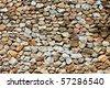 Texture of wall making from beautiful rock (horizontal image) - stock photo