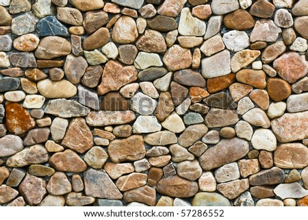 Texture of wall making from beautiful rock (horizontal image)