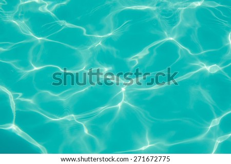 texture of water in the swimming pool - stock photo