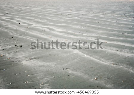 texture of wet sand on the beach
