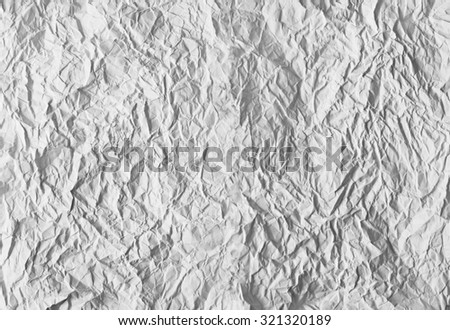 Texture of white crumpled paper - stock photo