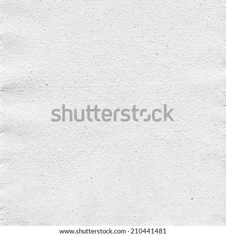 texture of white handmade paper - stock photo