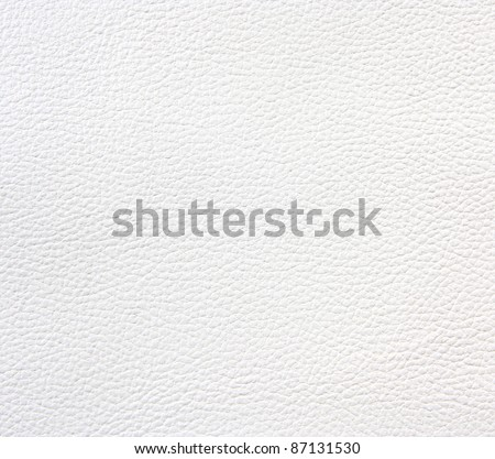 Texture of White leather for background - stock photo