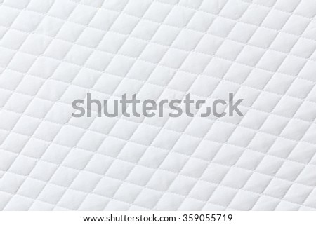 Texture of White mattress bed for background - stock photo