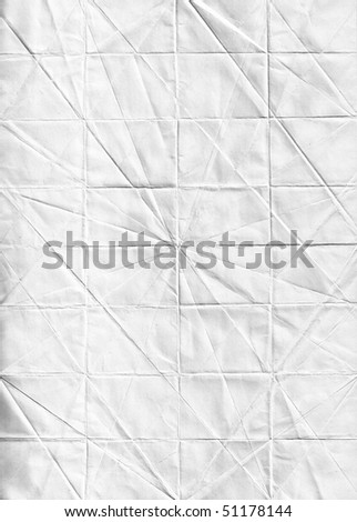 Texture of white paper with bends - stock photo