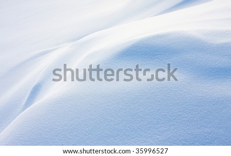 Texture of white snow with blue shadows - stock photo