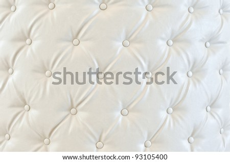 Texture of white vintage sofa - stock photo