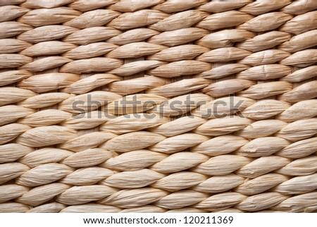 Texture of wicker, large knitting - stock photo