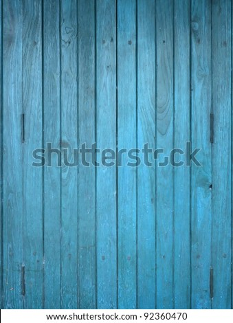 Texture of Wood blue panel for background vertical - stock photo