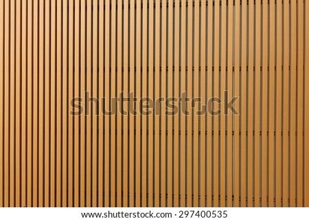 Texture of wood lath wall background - stock photo